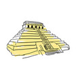 pyramid kukulkan hand drawn icon vector image
