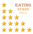 Rating stars background vector image