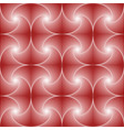 red seamless pattern created whirls and squares vector image vector image