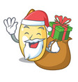 santa with gift cedar pine nuts isolated on mascot vector image vector image