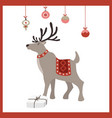 scandinavian christmas new year greeting card vector image vector image
