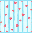 seamless pink heart pattern love vector image