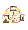 social gaming concept vector image