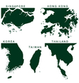 southeast asia pictograph vector image
