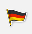 sticker flag germany on flagstaff vector image