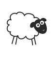 surprised staring sheep insomnia vector image