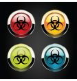 toxic icons vector image vector image