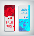 two vertical sale banners vector image vector image
