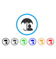 user safety umbrella rounded icon vector image