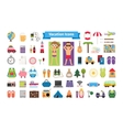 Vacation and summer rest flat icons vector image vector image