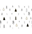 winter forest seamless pattern fabric print vector image vector image