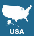 usa map on blue background flat vector image