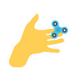 isolated hand palm with spinner vector image