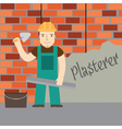 Plasterer at work vector image