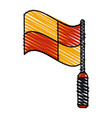 color crayon stripe cartoon red and yellow vector image