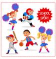 School sport time vector image