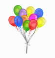 a bunch colorful balloons isolated on white vector image