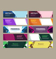 abstract banners geometric effects graphic vector image vector image