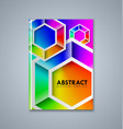 abstract brochure or book cover template with vector image
