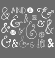 Ampersand Hand Drawn Doodle vector image vector image