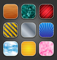 backgrounds with texture for app icons vector image