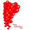 Beautiful Red Hearts Background vector image