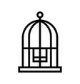 bird cage line vector image