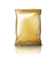 Blank golden realistic foil snack pack isolated on vector image vector image