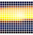 blue yellow orange black rounded mosaic vector image vector image