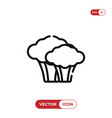 broccoli icon vector image vector image