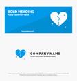 broken love heart wedding solid icon website vector image vector image