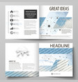 business templates for square design bi fold vector image