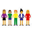 cartoon different people vector image vector image