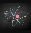 chalk drawn atom vector image vector image