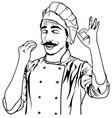 chef gesture delicious vector image
