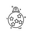 christmas ball icon design vector image
