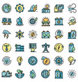 clean energy icons set flat vector image vector image