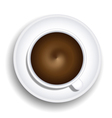 Coffee Cup Top-Down View vector image vector image