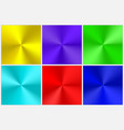 collection of multicolored conical gradients vector image vector image