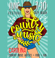 country music festival poster with sexy vector image