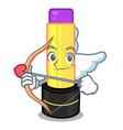cupid lip balm in character makeup bag vector image