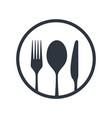 cutlery line vector image