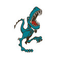 dinosaur cartoon animal cartoon vector image