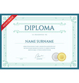 Diploma or Certificate Premium Design Template in vector image
