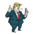 donald trump comments on social media cartoon vector image vector image