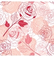 Floral background with roses seamless pattern vector image vector image