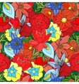 Floral seamless pattern background with leaves vector image
