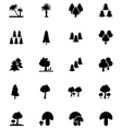 Forest Solid Icons 4 vector image vector image