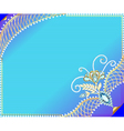 frame background with precious stones vector image vector image