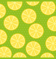 fresh lemons patetrn background vector image